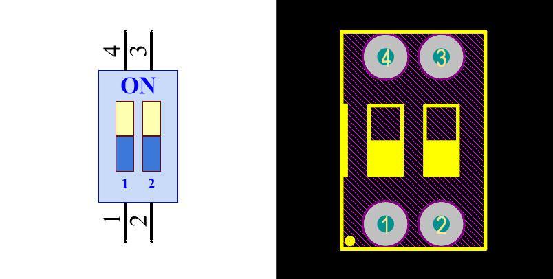 DIP Switch 2N