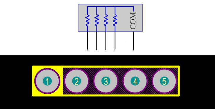 Resistor Array 5Pin