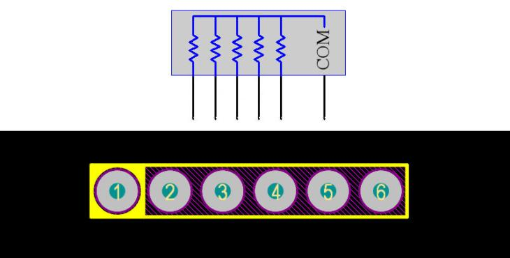 Resistor Array 6Pin