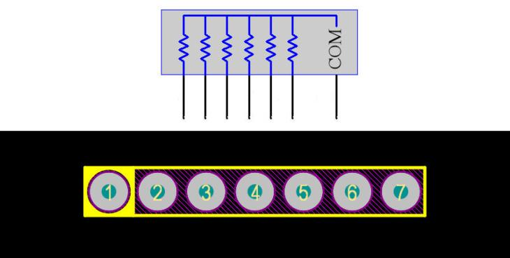 Resistor Array 7Pin