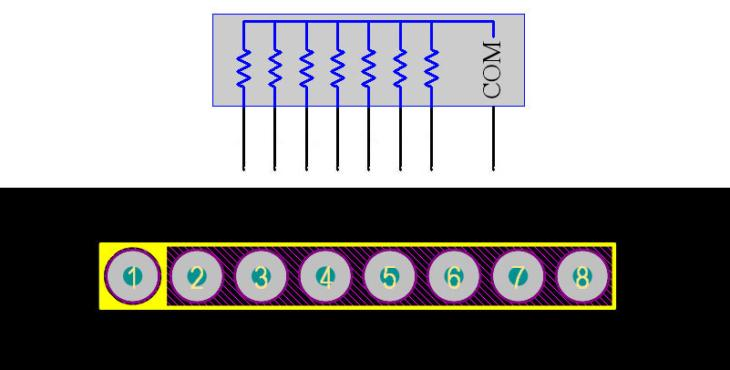 Resistor Array 8Pin