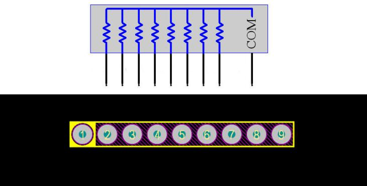 Resistor Array 9Pin