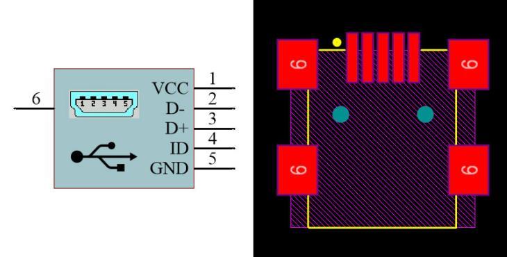 USB Mini Type-B Female SMD