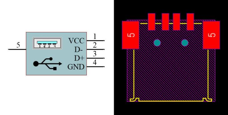 USB Type-A Female SMD
